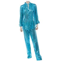 Liza Minnelli baby blue sequin performance ensemble.