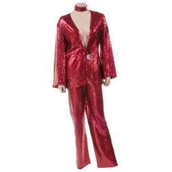 Liza Minnelli bright red sequin ensemble by Halston.