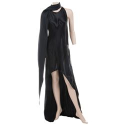 Liza Minnelli black satin bias ensemble by Halston.