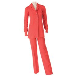 Liza Minnelli red linen ensemble by Halston.