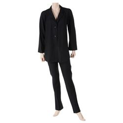 Liza Minnelli black linen ensemble by Halston.