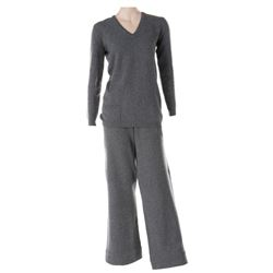 Liza Minnelli grey cashmere ensemble by Halston.