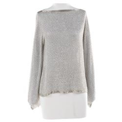 Liza Minnelli silver beaded tunic.