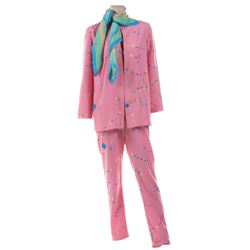 Liza Minnelli pink patterned ensemble from the Rio Line by Halston.