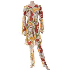 Liza Minnelli tropical patterned ensemble from the Rio Line by Halston.