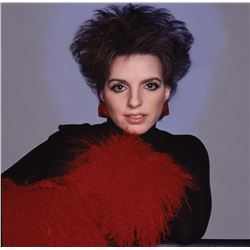 Liza Minnelli oversize color transparency and polaroid proof signed by Francesco Scavullo.