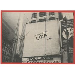 Liza Minnelli oversize custom photograph of New York City urban ad space.