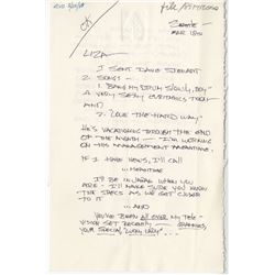 Gene Simmons (6) signed letters to Liza Minnelli.
