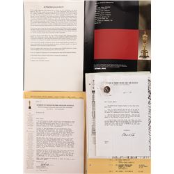 Liza Minnelli personal 60th Annual Academy Awards pin, program, and ceremony materials.