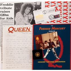 Liza Minnelli personal collection of Freddie Mercury related ephemera.
