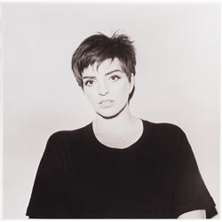 Liza Minnelli 'Results'-era oversize portrait photograph.