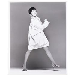 Liza Minnelli oversize publicity portrait for her 1991 concert engagement at Radio City Music Hall.