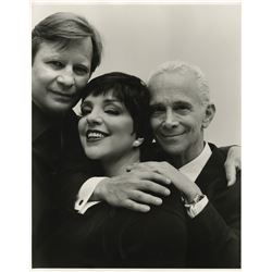 Liza Minnelli oversize portrait photograph with Michael York and Joel Grey by Christian Witkin.