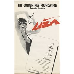 Liza Minnelli (20+) window cards for a Golden Key Foundation special benefit performance.
