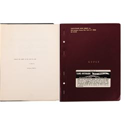 Liza Minnelli (2) proposal scripts for the stage - Gypsy & Frankie and Johnny in the Clair de Lune.