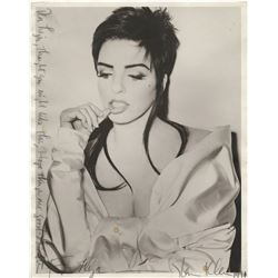Liza Minnelli vintage oversize photograph by Steven Klein, inscribed by him.