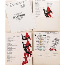 Liza Minnelli collection of ephemera related to 'Stepping Out at Radio City'.