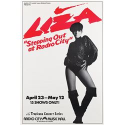 Liza Minnelli 'Stepping Out at Radio City' concert posters.