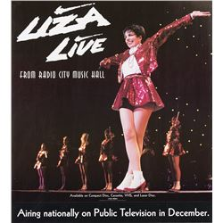 """Liza Live from Radio City Music Hall 1992 (10) TV special posters & (15) 'Liza in Germany"""" posters."""