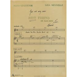 Liza Minnelli archive of (100+) sheet music, song lyrics, and stage directions for concerts.