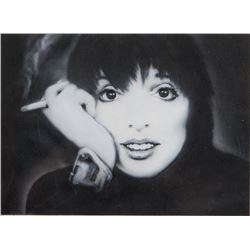 Liza Minnelli source image and original composite artwork for an outdoor banner.