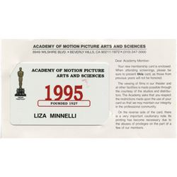 Liza Minnelli 1995 Academy of Motion Picture Arts and Sciences membership card.