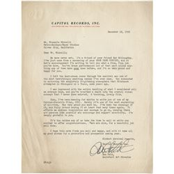 Liza Minnelli and Vincente Minnelli (4) pieces of signed correspondence from fashion designers.