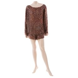 Liza Minnelli copper sequin ensemble by Isaac Mizrahi.