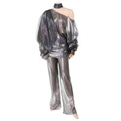 Liza Minnelli sheer silver iridescent (5) piece ensemble worn to the premiere of Sex and the City 2.