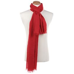 Liza Minnelli collection of (8) red scarves.