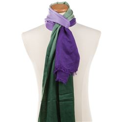 Liza Minnelli collection of (11) purple and multi-color colored scarves.