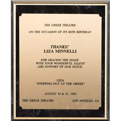 Liza Minnelli (6) various awards and honors for achievements including Stepping Out.