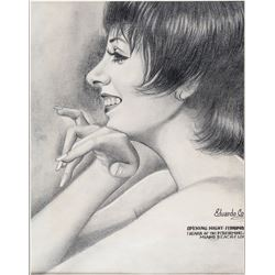 Liza Minnelli fan art profile portrait drawing.