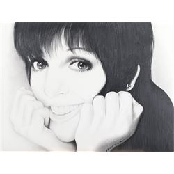 Liza Minnelli (2) fan art portrait drawings.
