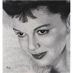 Judy Garland portrait artwork by SWS.
