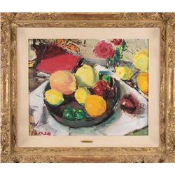 Dimitri Berea fruit bowl still life painting.