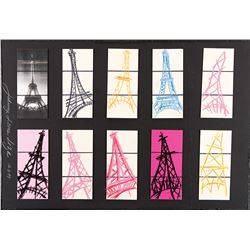 Eiffel Tower (9) pastel studies.