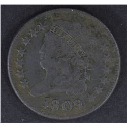 1809 HALF CENT, VF porosity