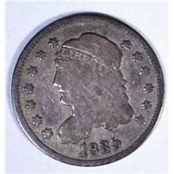 1835 CAPPED BUST HALF DIME, VG