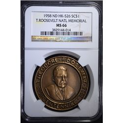 1958 ND HK-526 SO CALLED DOLLAR, NGC MS-66