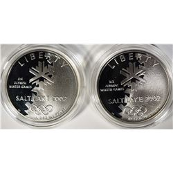 (2) 2002 Olympic Winter Games Proof Silver Dollars