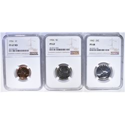 NGC GRADED PROOF COINS: