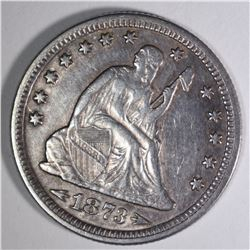 1873 WITH ARROWS SEATED QUARTER, AU
