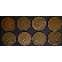 8 - 1885 INDIAN CENTS BETTER DATE