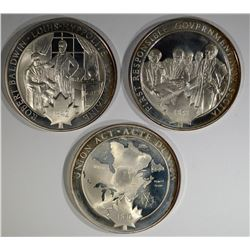 3 Different Pure Sterling Silver 1.25 oz Each