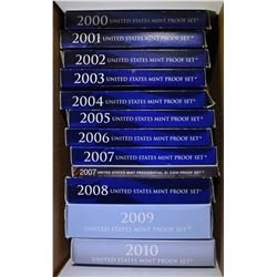 RUN OF 2000'S PROOF SETS