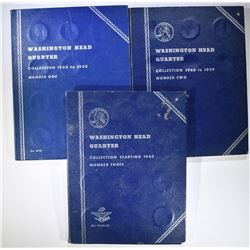 70-CIRC WASHINGTON QUARTERS IN FOLDERS DATES RUN