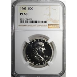 1963 FRANKLIN HALF DOLLAR NGC PF68