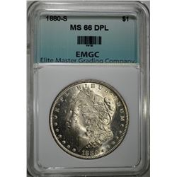 1880-S MORGAN DOLLAR EMGC SUPERB