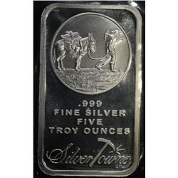 "FIVE OUNCE .999 SILVER BAR ""SILVERTOWNE"""